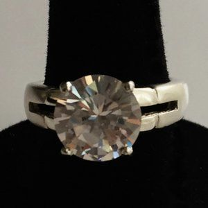 Solitaire Simulated Diamond Ring 925 Silver